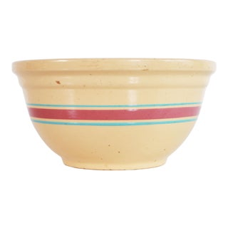 Vintage 1930s Watt Ware Yellow Pottery Batter Bowl For Sale