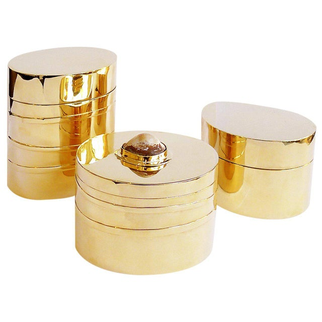 Gilded French Modernist Box with Shell For Sale - Image 4 of 5