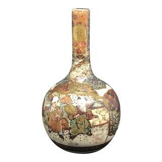 Antique Late 19th Century Satsuma Small Porcelain Vase For Sale