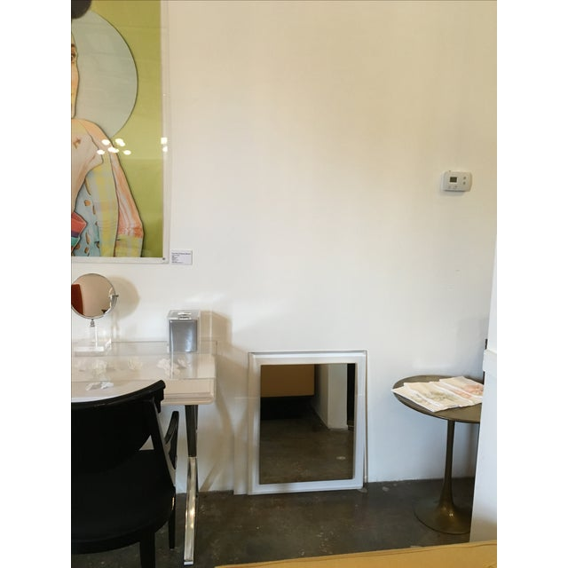 Mid-Century Modern Lucite Framed Wall Mirror - Image 8 of 8