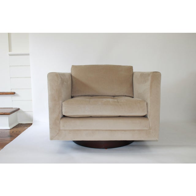 Mid-Century Modern Harvey Probber Swivel Cube Chairs - a Pair For Sale - Image 3 of 12
