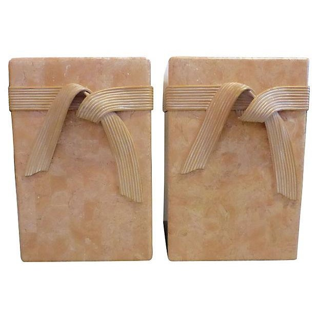 Mid-Century Tessellated Stone Side Tables - Pair - Image 2 of 6