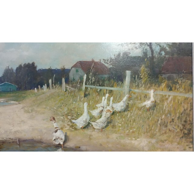 """Gari Melchers """"Belmont Lakeshore View"""" Oil Painting c.1920s For Sale - Image 5 of 10"""