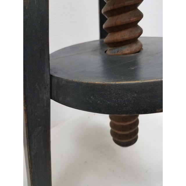 Vintage English Adjustable Stool For Sale - Image 12 of 13