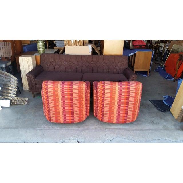 Mid-Century Milo Baughman for Thayer Coggin Swivel Chairs - Image 4 of 7