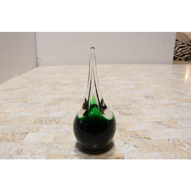 "Green Glass ""Flamingo"" Orchid Vase by Holmegaard - Image 8 of 9"