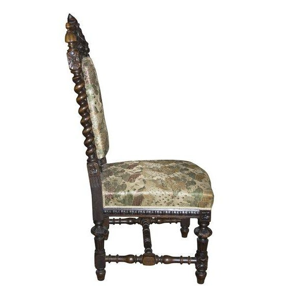 Antique Carved Baroque Chair - Image 2 of 2