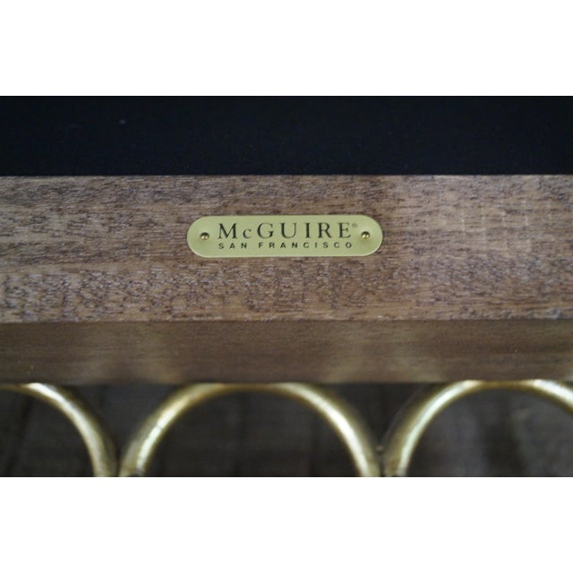 McGuire Laura Kirar Rattan Base Sofas - Pair For Sale - Image 9 of 10