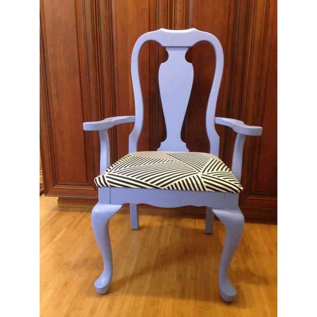 Lavender Painted Vintage Chair - Image 2 of 7