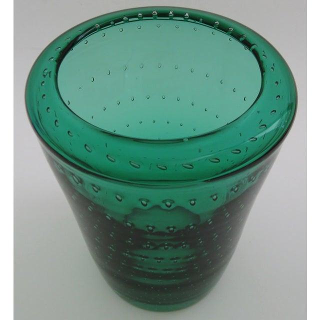 Vintage Erickson Glass Vase For Sale - Image 4 of 4