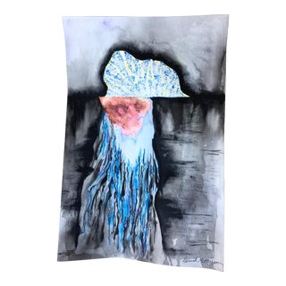 'Portuguese Man O War' Original Watercolor Painting