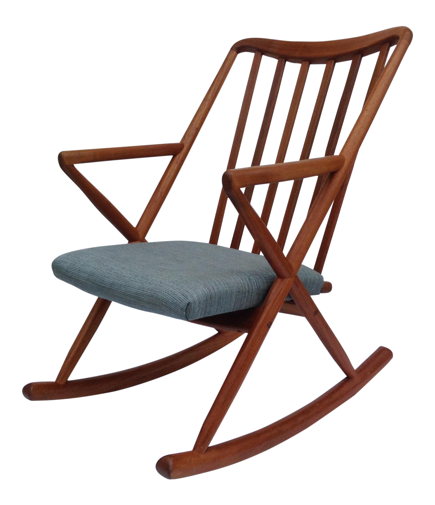 Benny Linden Danish Mid Century Teak Rocking Chair