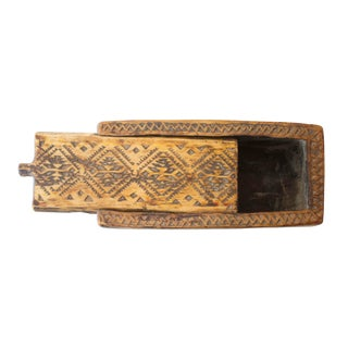 Moroccan Sliding Top Wooden Box For Sale