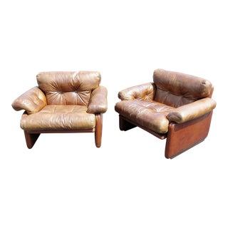 Pair of Italian Mid-Century Modern Club Chairs