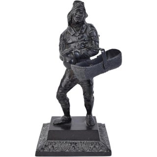 19th Century French Cast Iron Rag-Picker Statue For Sale