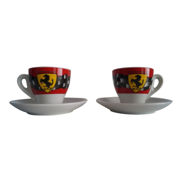Vintage Mid Modern Espresso Cups - a Pair For Sale