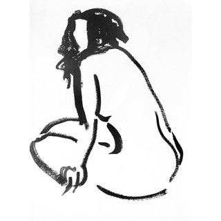 One Minute Pose Nude 133.2 Contemporary Painting by Gretchen Kelly For Sale