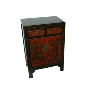 Antique Chinese Red & Black Chest