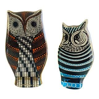 Acrylic Lucite Op Art Owl Sculptures Signed by Abraham Palatnik - a Pair For Sale