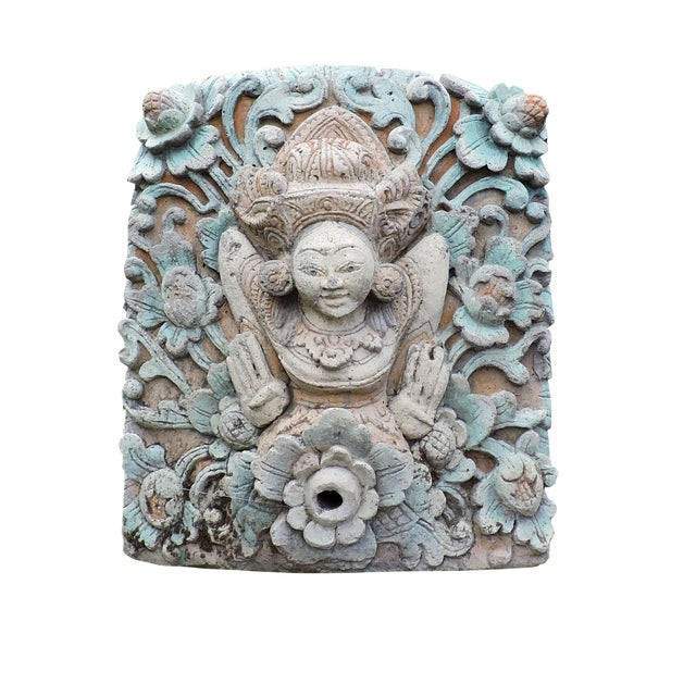 Hand Carved Balinese Water Fountain For Sale