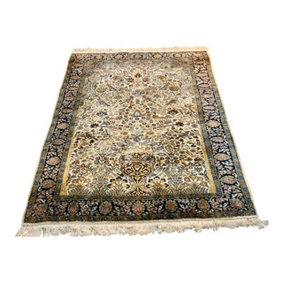Silk Kashmir Rug - 4′2″ × 6′1″