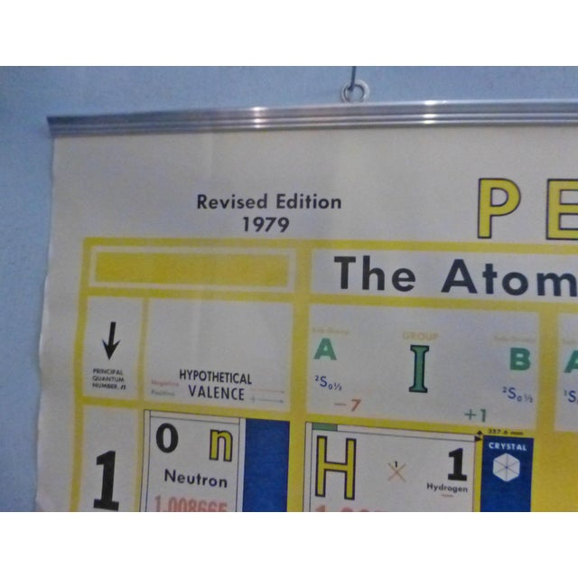 1970s Vintage 1979 Periodic Chart of the Atoms Classroom Teaching Aid For Sale - Image 5 of 8