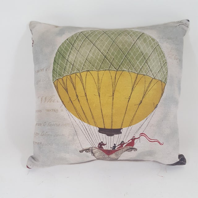 Hot Air Balloon Square Pillow For Sale - Image 9 of 9