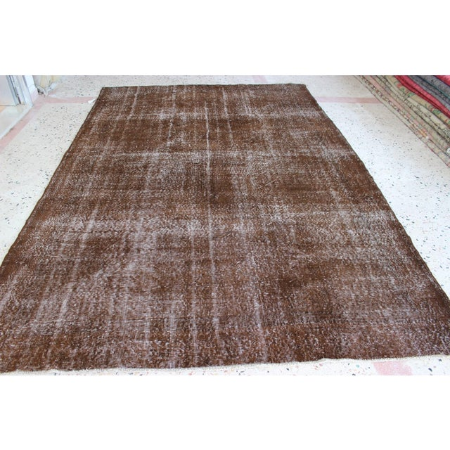 Contemporary Overdyed Turkish Rug - 7′ × 10′8″ For Sale - Image 3 of 7