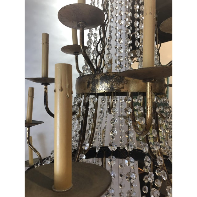Vintage French Gilt and Crystal 24 Arm Chandelier For Sale - Image 12 of 13