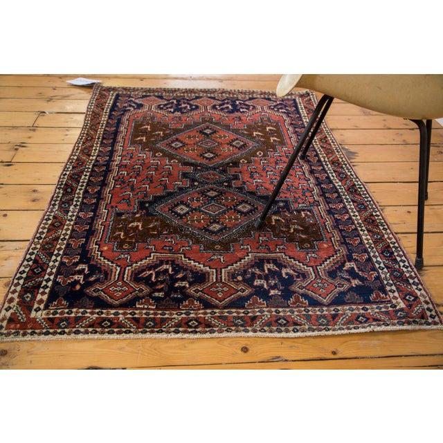 "Vintage Persian Afshar Rug - 3'6"" X 4'8"" - Image 7 of 8"