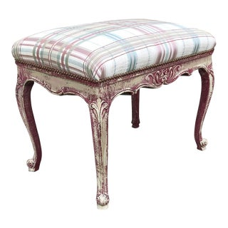 Antique French Louis XV Painted Stool For Sale