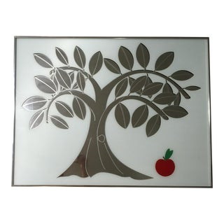 Vintage Greg Copeland Apple Tree Graphic Mirror