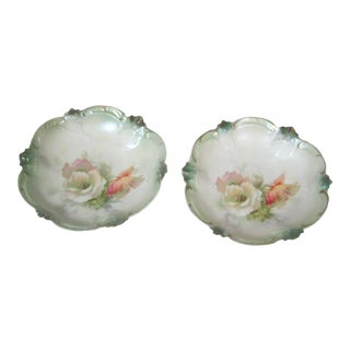 1930s RS Prussia Berry Bowls - a Pair For Sale