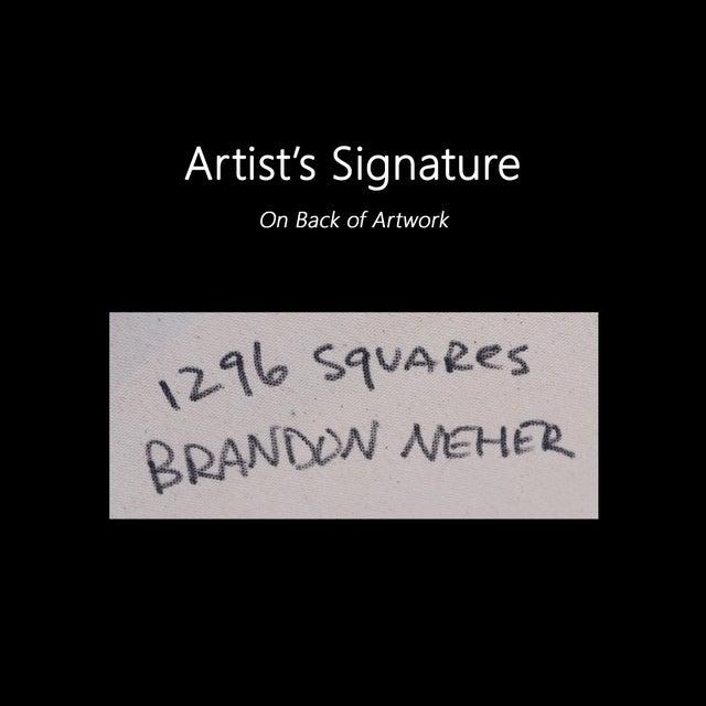 """1296 Squares"" Original Artwork by Brandon Neher For Sale - Image 9 of 9"