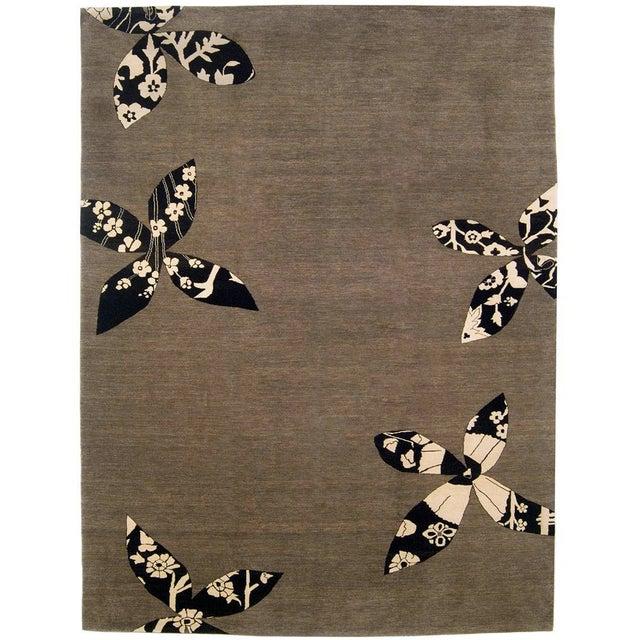 Madeline Weinrib Putty Lark Tibetan Wool Rug - 7′10″ × 10′1″ - Image 8 of 9