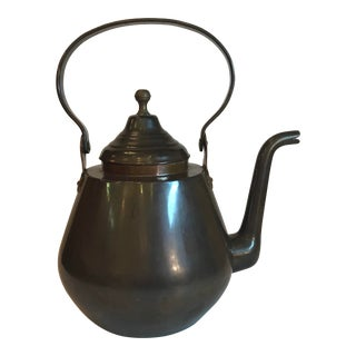 Vintage French Copper Tea Kettle For Sale