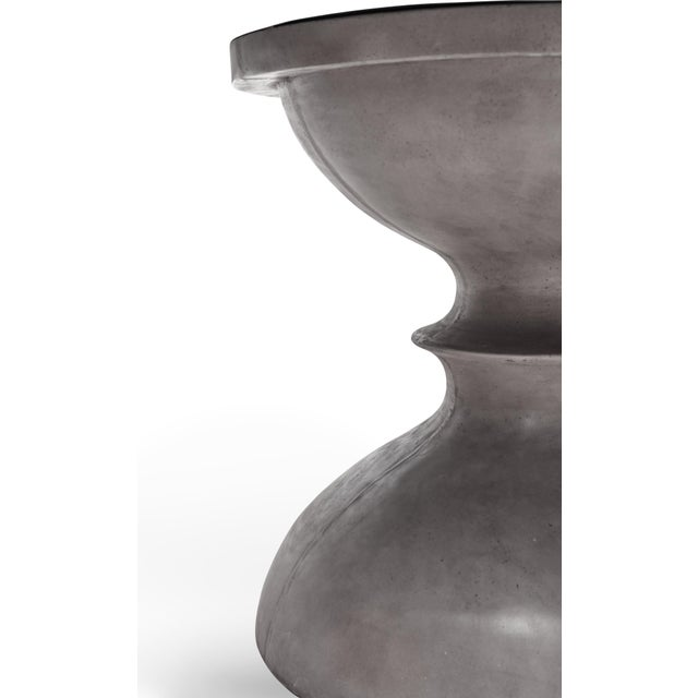 Spindle Dining Table in Dark Gray For Sale - Image 4 of 6