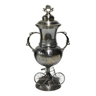 19th C. Silverplate Cycling Trophy