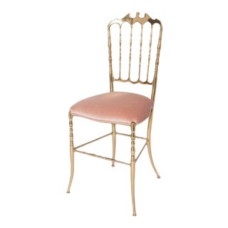 Classic Brass Chiavari Chair For Sale