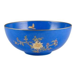 Antique W & R Carlton Ware Blue & Gold Bowl For Sale