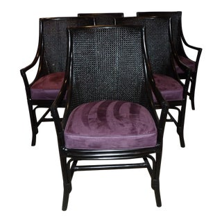 """David Francis """"St Thomas """" Arm Chairs - Set of 5 For Sale"""