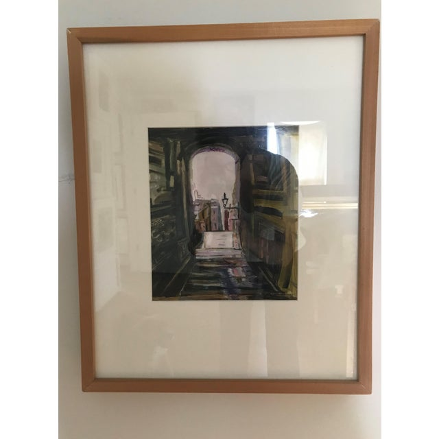 """Paint """"Edinburgh"""" Contemporary Architectural Oil Painting, Framed For Sale - Image 7 of 7"""