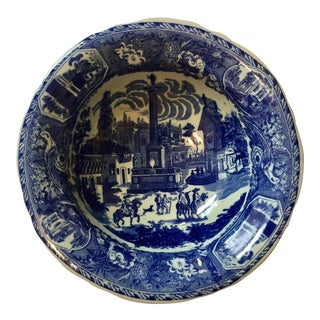 Victoria Ware Blue Town Ironstone Bowl For Sale