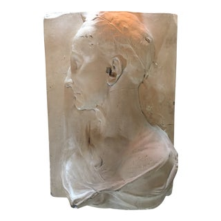 1950 Vintage Caesar Plaster Relief Sculpture For Sale