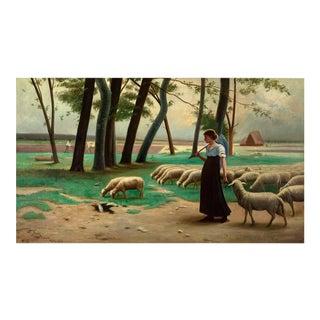 La Gardienne de Moutons by Louis-Théodore Dubé