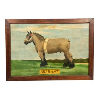 American Country Horse Brabant Painting For Sale