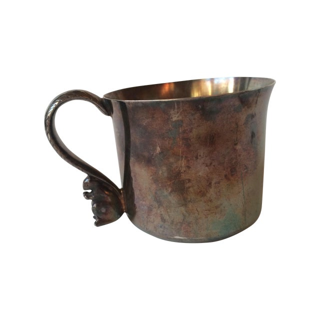 Silver Plated Squirrel Handle Baby Cup - Image 1 of 7