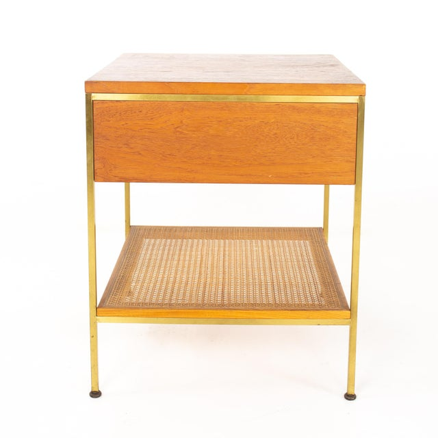 Paul McCobb for Calvin Group Mid Century Oak and Brass Nightstand For Sale In Chicago - Image 6 of 13