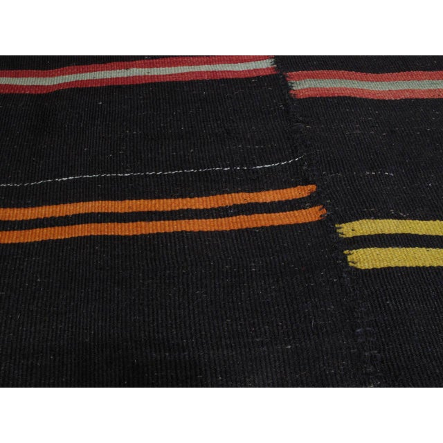 Large Kilim with Bright Stripes For Sale - Image 9 of 9