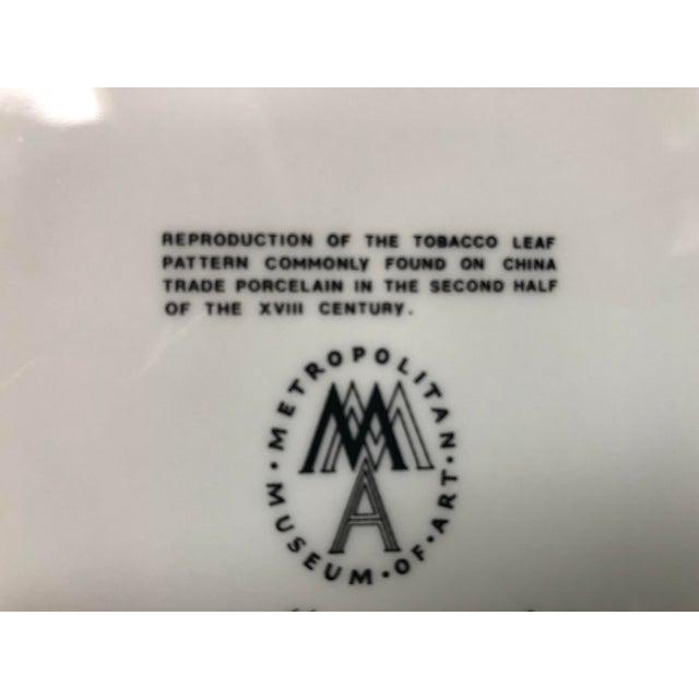 1980s Mottahedeh Tobacco Leaf Porcelain Plate For Sale - Image 10 of 11